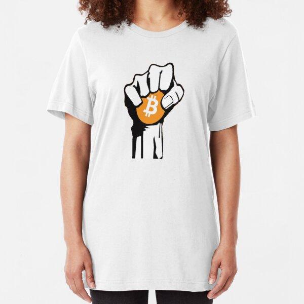Bitcoin Revolution -Cryptocurrency shirt / Hoodie - Crypto Shirts  -Ethereum shirt / Hoodie - Buy bitcoin shirt / Hoodie Crypto Shirt - For a Crypto Trader or Crypto bro - Cryptocurrency tee   Slim Fit T-Shirt