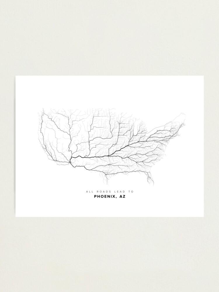 Alternate view of All Roads Lead to Phoenix, AZ Photographic Print