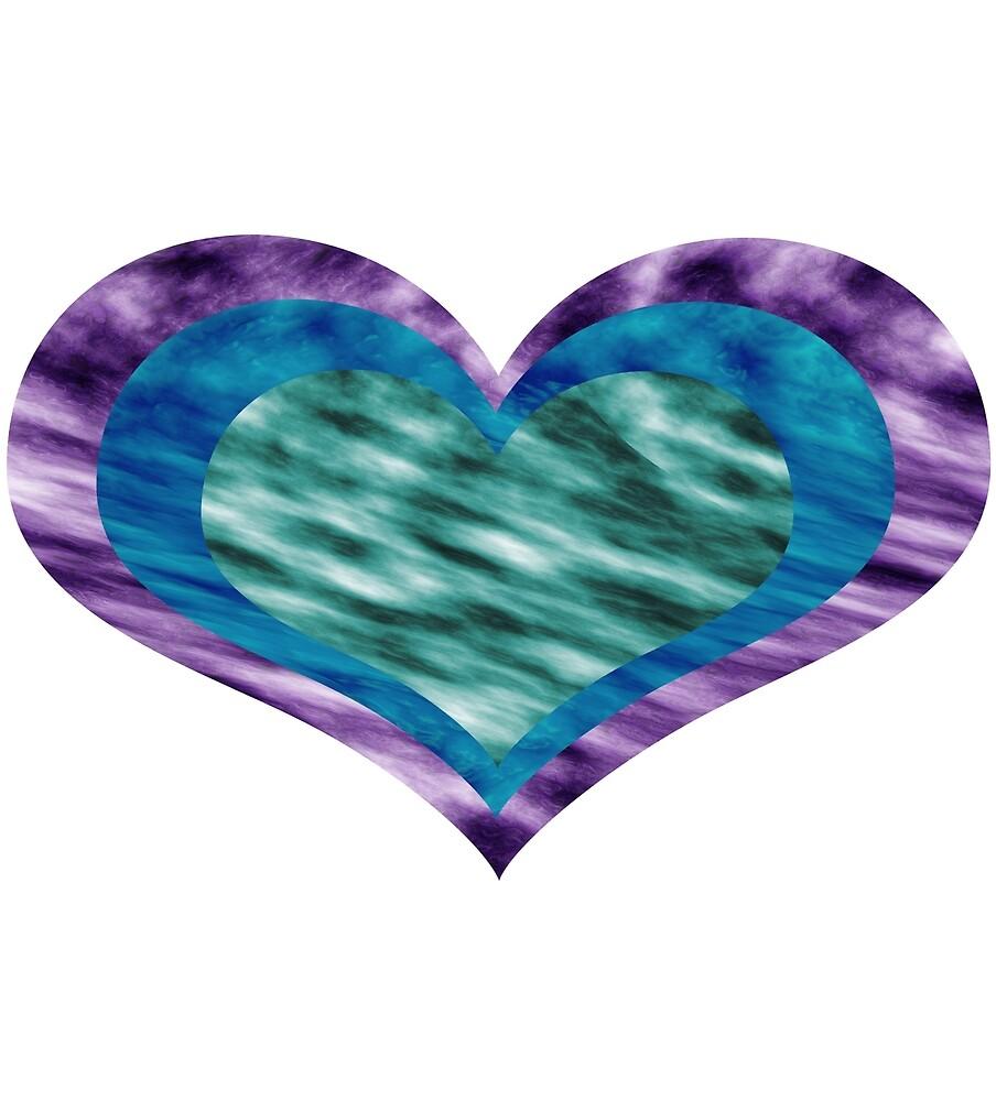 Galaxy Heart Design by xzairi