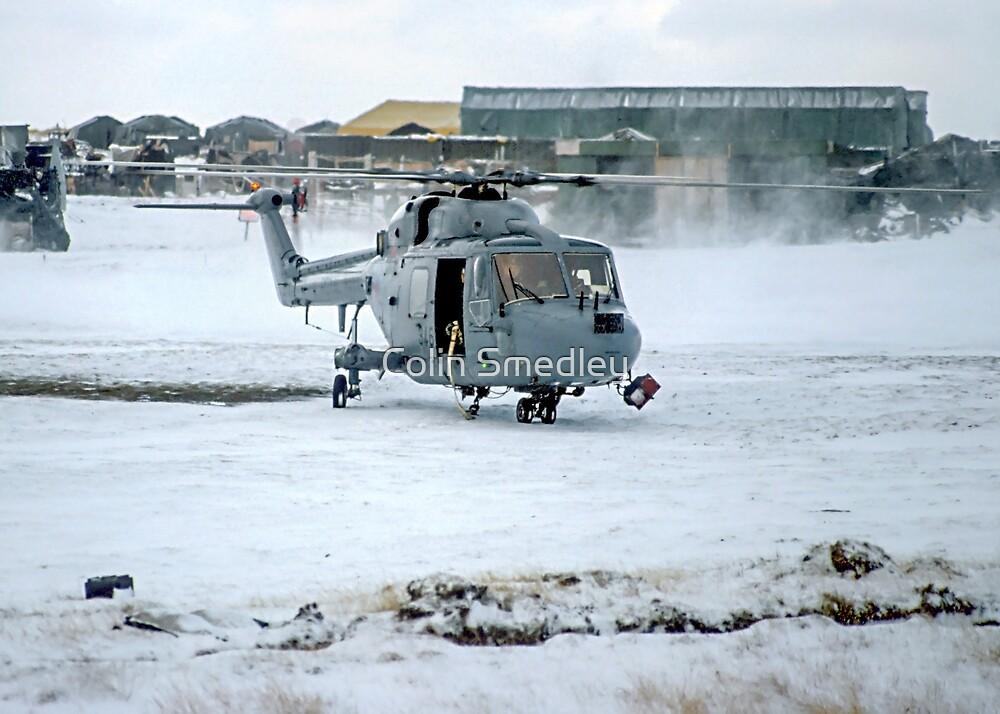 Westland Lynx HAS.2 XZ257/346 landing at RAF Stanley by Colin Smedley