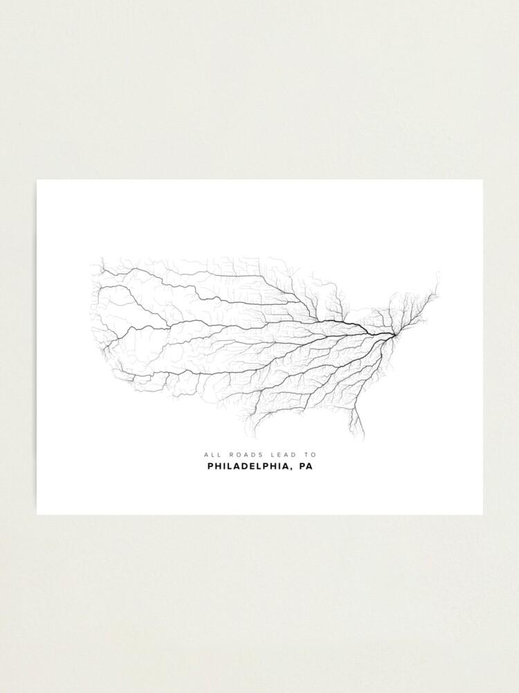 Alternate view of All Roads Lead to Philadelphia Photographic Print