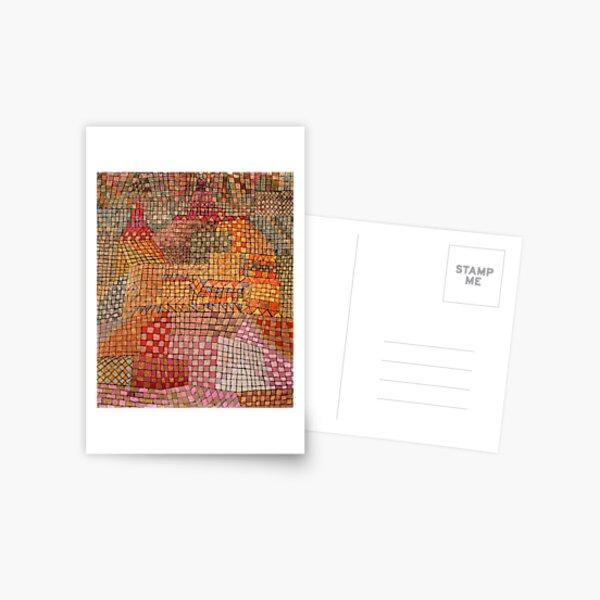 Klee - Stadtschloss Kr, berühmtes abstraktes Kunstwerk Postkarte