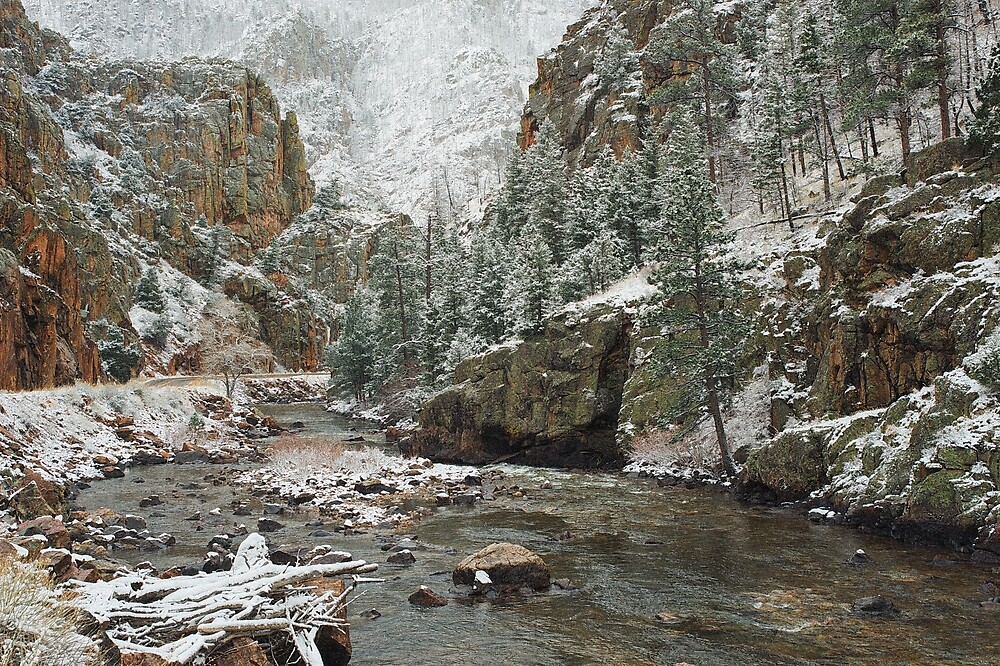 Spring Snow Poudre Canyon #2 by johnny gomez