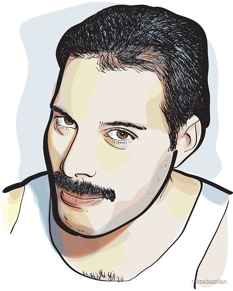 Watercolor Freddie by niksebastian