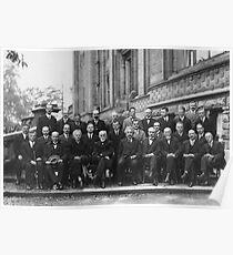 1927 Solvay Conference on Quantum Mechanics Poster