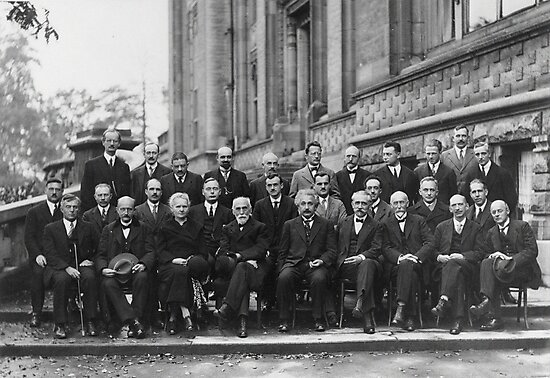 1927 Solvay Conference on Quantum Mechanics by allhistory