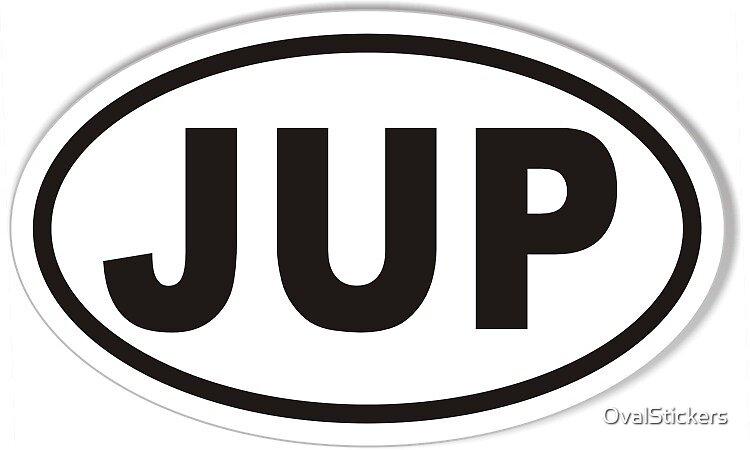Jupiter Florida JUP Euro Oval Sticker by OvalStickers