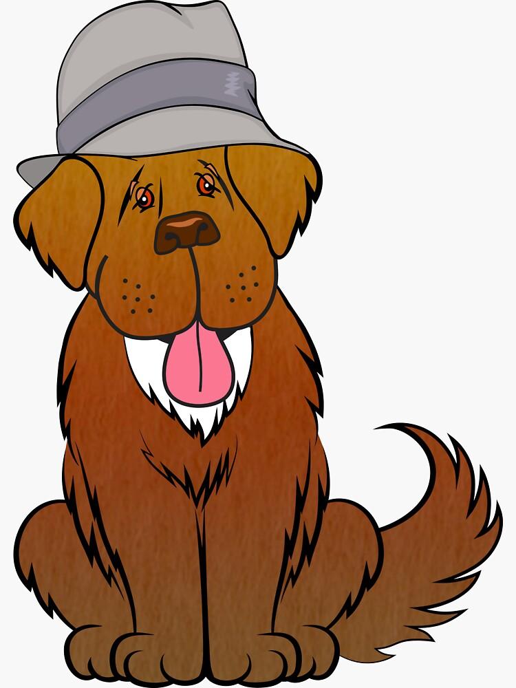 Newfoundland dog in hat by itsmechris