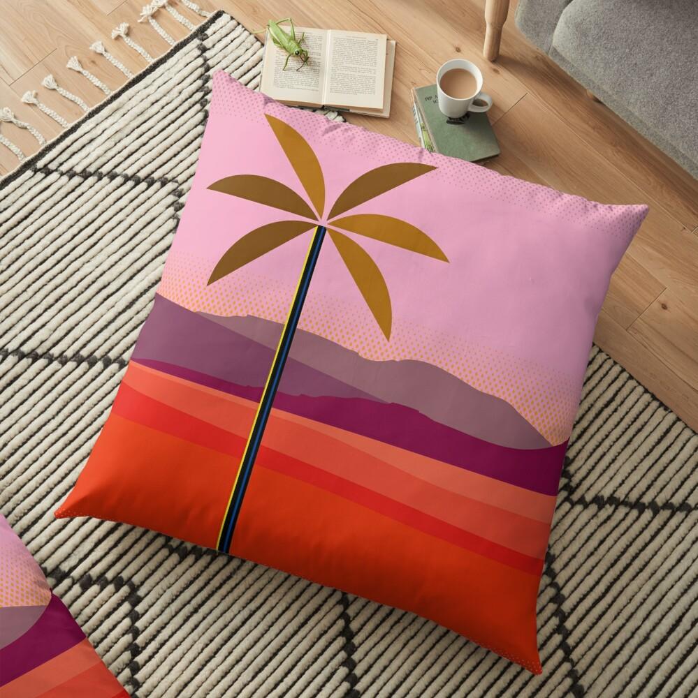 Phoenix Arizona Travel Poster Floor Pillow
