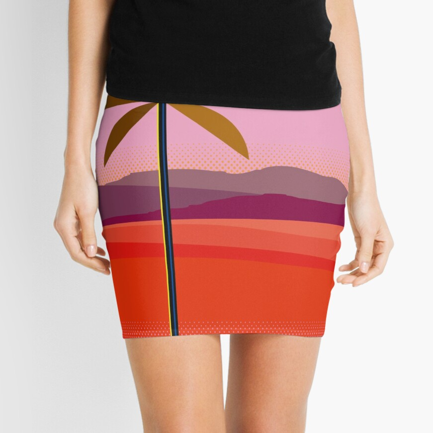 Phoenix Arizona Travel Poster Mini Skirt