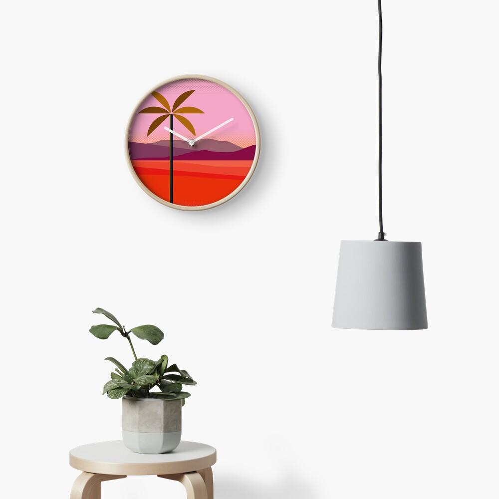 Phoenix Arizona Travel Poster Clock
