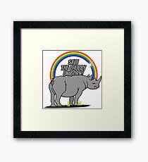 Save the chubby unicorn! VRS2 Framed Print