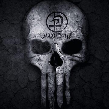 Cool Krav Maga Urban Skull Design by loumed