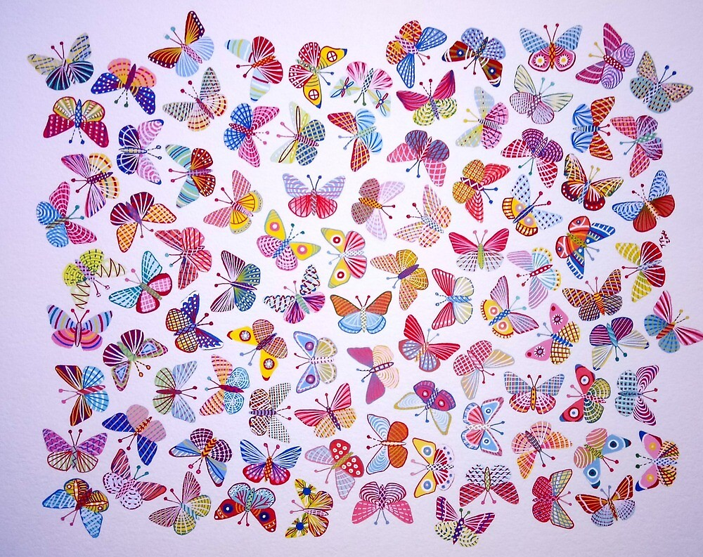 Abstract Butterflies  by brooke1312