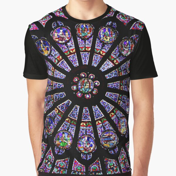 Notre Dame Rose Window Graphic T-Shirt