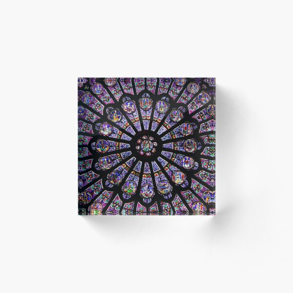 Notre Dame Rose Window Acrylic Block