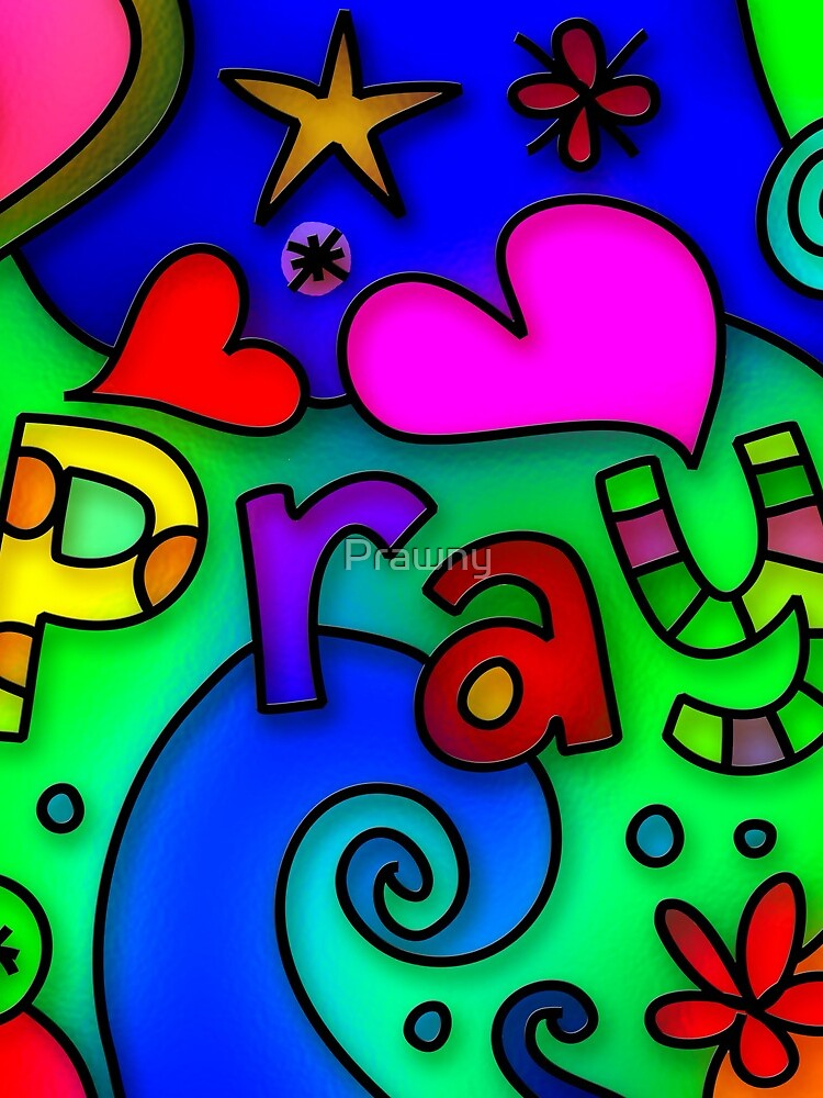 Stained Glass Pray Text by Prawny
