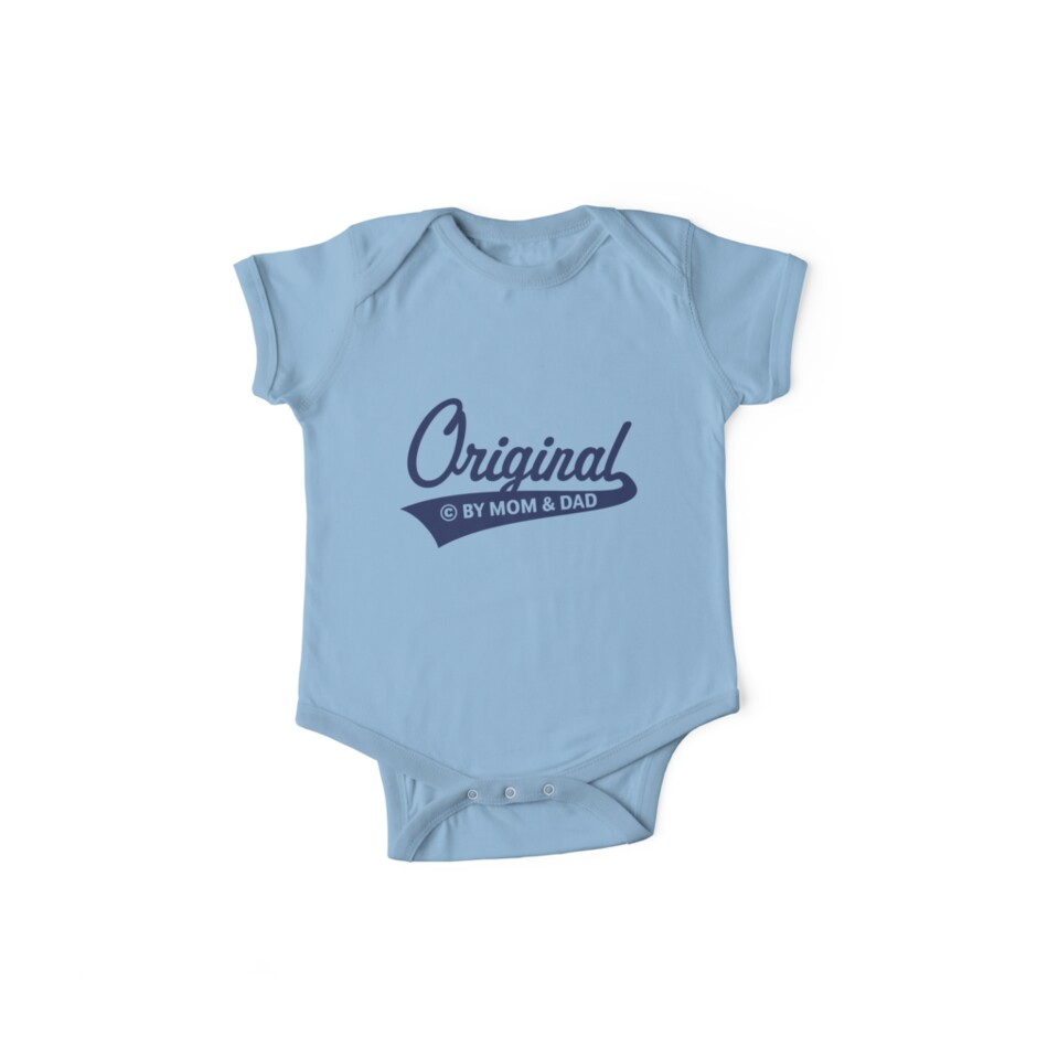 Original – Made By Mom And Dad (Birth / Baby / Navy) by MrFaulbaum