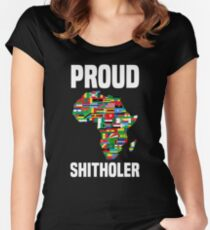 Proud Shitholer Africa #IAMTHEM Anti Racism T Shirt Women's Fitted Scoop T-Shirt
