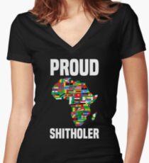 Proud Shitholer Africa #IAMTHEM Anti Racism T Shirt Women's Fitted V-Neck T-Shirt