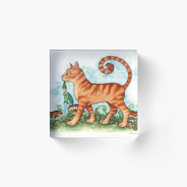What The Cat Dragged In Acrylic Block
