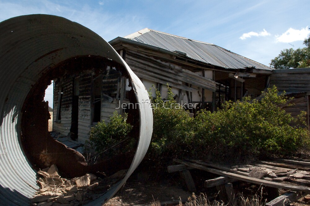 Birds eye view of homestead at Longerenong by Jennifer Craker