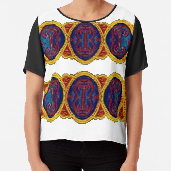 Tawlula T-Shirts, #Ковровый #узор #балкарского #карачаевского #войлочного #ковра #Carpet #pattern of a #Balkarian & #Karachay #felt #carpet #Ковровыйузор #CarpetPattern #таулу #tawlu #mountaineer #таулула #tawlula Chiffon Top