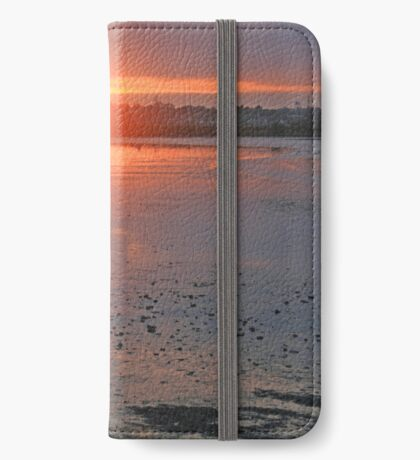 Sundown on the Bay iPhone Wallet