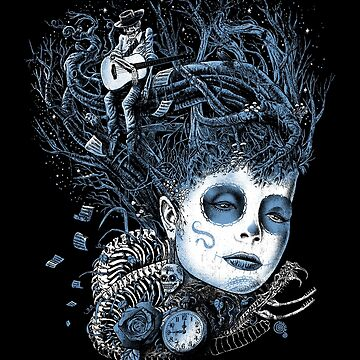 Echoes, Day of the Dead, Music, Guitar, Trees by qetza