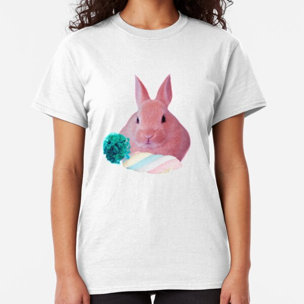 Pink Rabbit with carrot marshmellow by Alice Monber Classic T-Shirt
