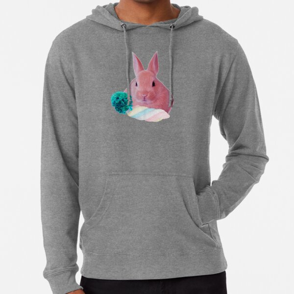Pink Rabbit with carrot marshmellow by Alice Monber Lightweight Hoodie