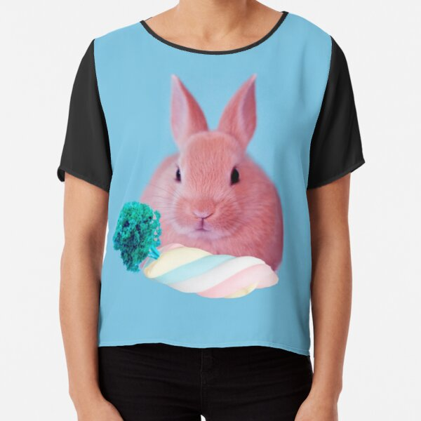 Pink Rabbit with carrot marshmellow by Alice Monber Chiffon Top
