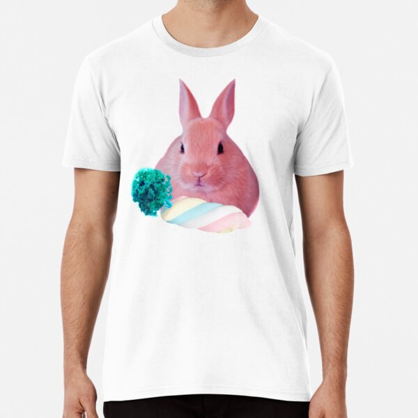 Pink Rabbit with carrot marshmellow by Alice Monber Premium T-Shirt