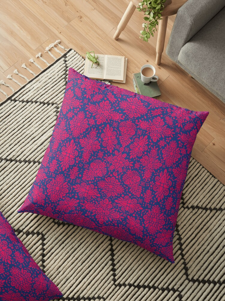 Abstract Magenta Pink & Blue Symmetrical Pattern by somecallmebeth