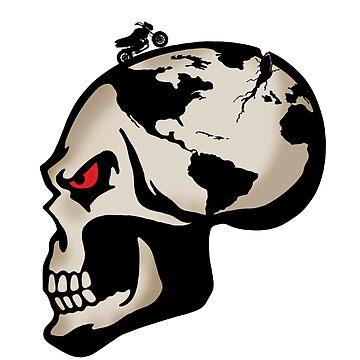 Skull Globe Adventurers by Gromance