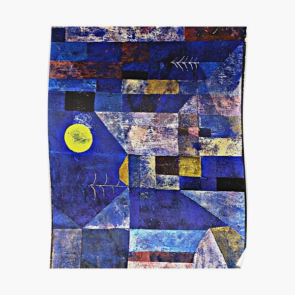 Klee - Moonlight, berühmtes Gemälde von Paul Klee Poster