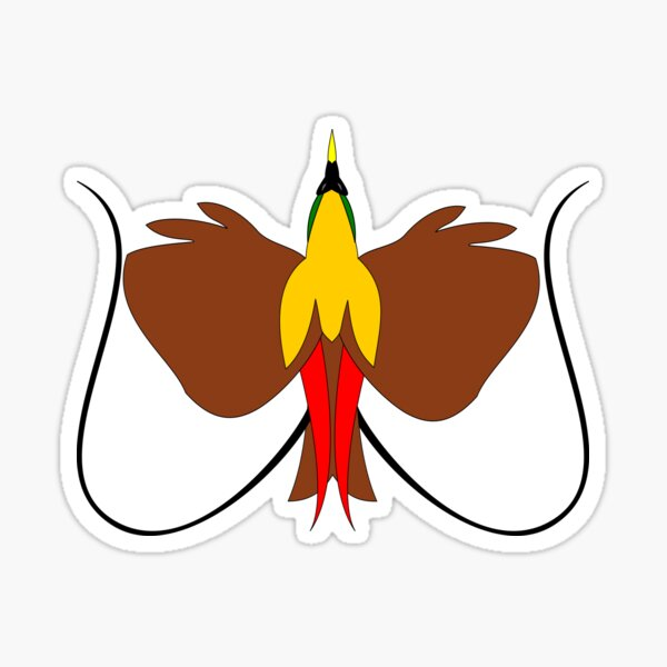 Red Bird of Paradise Sticker
