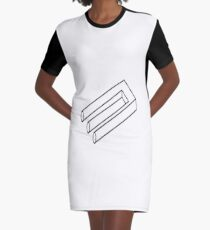Cognitive Illusion Graphic T-Shirt Dress
