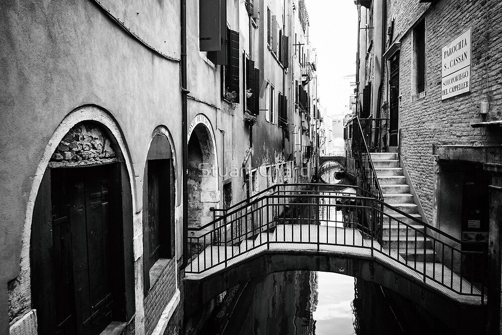 Venice Canal in black and white by stuartchard