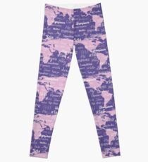 Hello World Languages Violet Lavender  Leggings