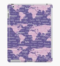 Hello World Languages Violet Lavender  iPad Case/Skin