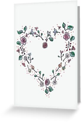 Floral Heart by Inesse