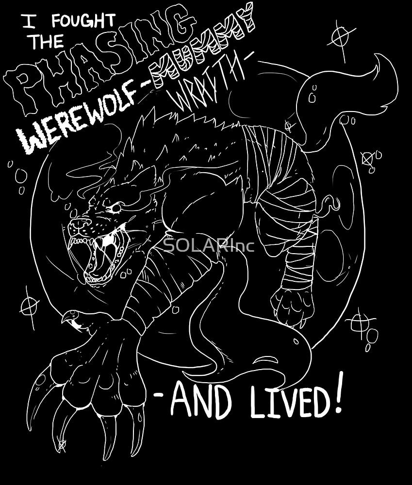 Phasing Werewolf Mummy Wraith White Linework by SOLARInc
