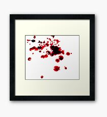 Blood Stained Framed Print