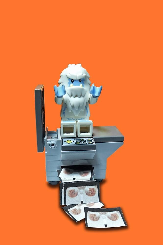Yeti having a party on a photocopier! by BreathingBricks