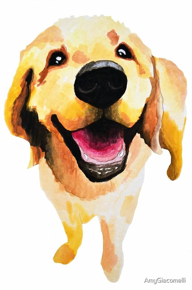 Good Boy - dog art by AmyGiacomelli