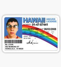 McLovin ID Sticker Sticker