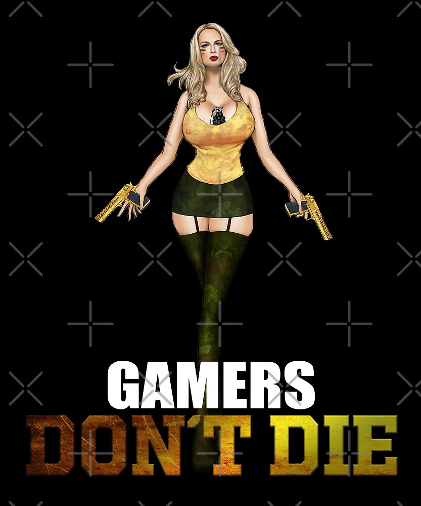 Gamers don´t die Girl with Deagle by proeinstein