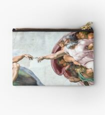 Iconic Michelangelo Creation of Adam Studio Pouch