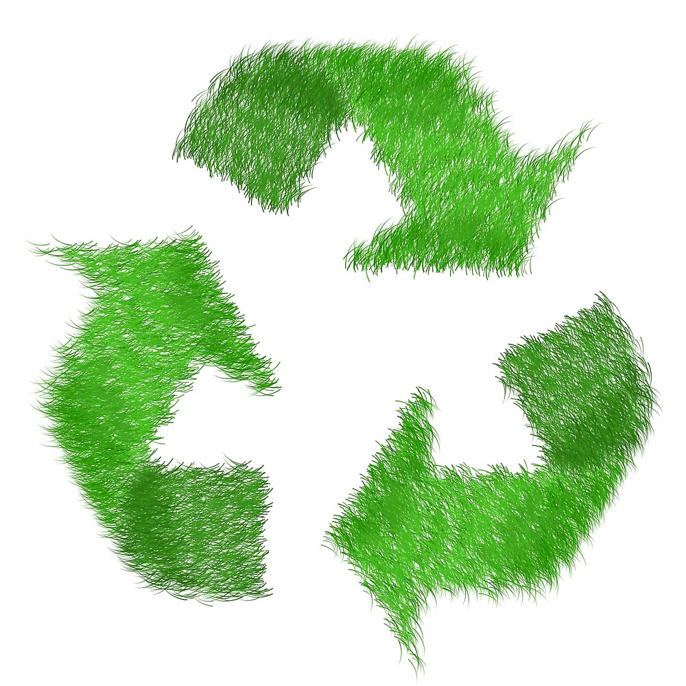 Green Grass Recycle Symbol by pdgraphics